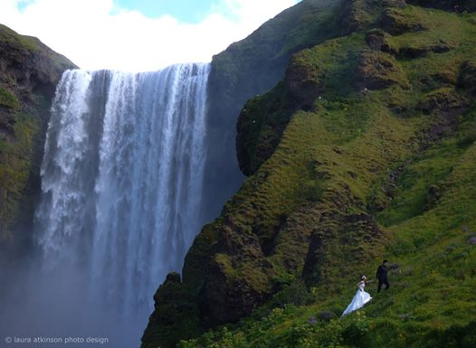 wedding waterfall
